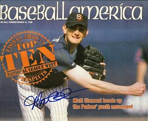 Matt Clement Autograph--San Diego Padres--1999 Baseball America Cover Only