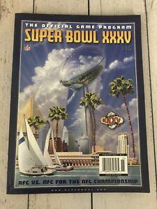 NFL Super Bowl XXXV 2001 Official NFL Game Program NY Giants vs Baltimore Ravens