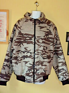 King Of The Mountain Omnitherm Camouflage Jacket Virgin Wool Men's (L)Tall