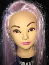 MANNEQUIN HEAD WITH PURPLE PINK HAIR