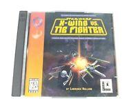 Vintage Star Wars: X-Wing vs. TIE Fighter PC Game 2 Disc Set LucasArt 1997