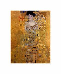 Cultural Gustav Klimt Bloch Bauer Portrait Secession Abstract Art Canvas Print