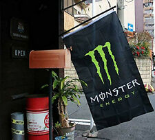 For Monster Energy Drink Logo Flag Sign Plate Poster Bar Sport Club Banner 3x5ft