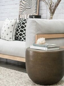 HIGH QUALITY Hammered Metal Side Table  in Copper Finish