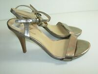 WOMENS BRONZE SLINGBACK SANDALS WORTHINGTON COMFORT CAREER HEELS SHOES SIZE 7 M