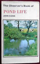 OBSERVER's BOOK of POND LIFE No.24 by JOHN CLEGG with D/W 1972 REPRINT