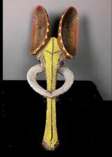 Antigua Figura De Tronco tribal bamileke con cuentas de elefante --- Camerún BN 40