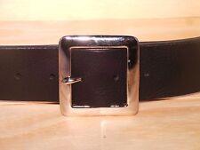 2 in (approx. 5.08 cm) Cuadrado De Plata Cuero Hombre Mujer Jean Cintura Correa medición de tamaño cualquier