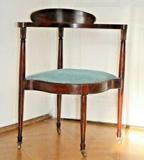 Zierlicher Jugendstil Eckstuhl Armlehnstuhl Schreibtischstuhl Chair um1900 antik