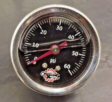 HARLEY LIQUID FILLED OIL PRESSURE GAUGE 60PSI hd chopper bobber cafe black ss 60