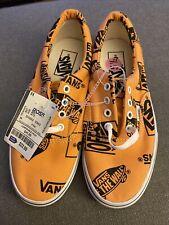 New Black & Orange Vans Sneakers Men Size:5.5