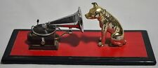 Vintage RCA Victor Nipper Dog with Gramophone Statue Sculpture Figurine, Rare!!!