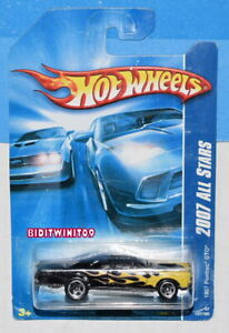 HOT WHEELS 2007 ALL STARS 1967 PONTIAC GTO #137/180 BLACK