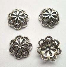 50pcs Tibet silver Flower End Beads Caps 15x4 mm