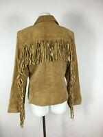 MARGARET GODFREY - Western Rodeo 100% Leather - Fringed Cowgirl Jacket 10
