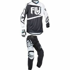 2017 FLY F16 Youth Motocross kit, Black / White, YM Top, 22 pant.