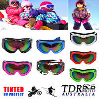 Youth Kid Anti-Fog UV Lens Snowmobile Snowboard SKI Bike Snow Winter GOGGLES