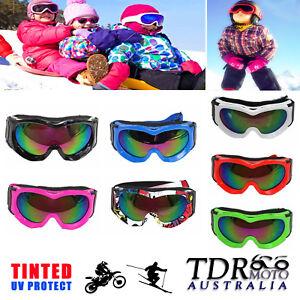 NEW Kids Boys Girls Ski Snow Snowboard Goggles -anti-UV / Tinted layer lens