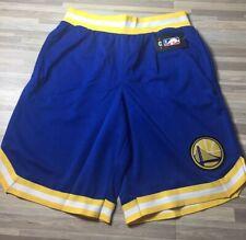 $40 UNK Golden State Warriors Men's Sz MEDIUM Blue/Yellow Basketball Shorts NWT