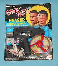 vintage 1975 AHI STAR TREK PHASER SAUCER GUN MOC MIP
