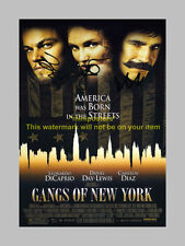 """GANGS OF NEW YORK CAST X3 PP SIGNED POSTER 12""""X8"""""""