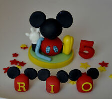 mickey mouse clubhouse name blocks age cake topper decoration,edible boy girl