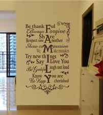Large FAMILY Wall Quote Art Vinyl Wall Sticker Wall Decals UK    SH115