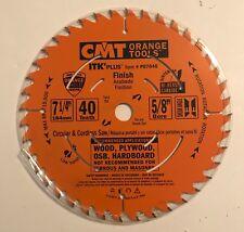 "NEW CMT 7-1/4"" 40T FINISH CARBIDE CIRCULAR SAW BLADE P07040 ORANGE SHIELD"