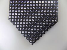 "MICHAEL KORS $75 MEN Black Geometric Skinny WIDTH 3"" CASUAL NECK TIE SILK A13"
