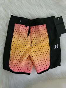 Hurley Boys Board Shorts Size 4 Hyper Pink 2-Way Stretch 882862-A96 NEW