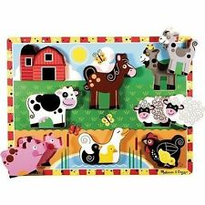 Melissa & Doug Chunky Farmyard Animals Puzzle 8pce
