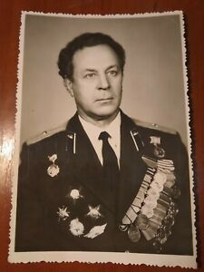 Photo soviet veteran WW2 military uniform
