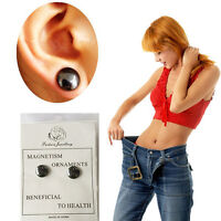 2x Bio Magnetic Weight Loss Earrings Stud Stimulating Tackle Slim Health Care