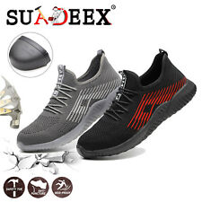 Womens Safety Work Shoes Lightweight Steel Toe Cap Sports Breathable Sneakers US