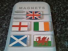 Flag Fridge Magnet Set. England, Ireland, Scotland Wales & Great Britain. NEW