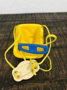 Little Tikes DollHouse size Swing Blue & Yellow GUC