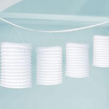 White Paper Lantern GARLAND 12 feet Hanging Decorations White Lantern Bunting