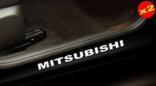 MITSUBISHI 4x4 Car ute coupe door sill vinyl cut decal Stickers 400mm (x2)