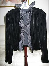 Lord & Taylor Velvet/Taffeta Bolero Jacket - New With Tags
