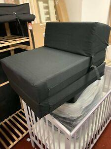 Habitat Single Chair Bed - Jet Black
