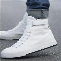 Hot Men Fashion Autumn High Top Canvas Shoes Running Sport Shoes Men Sneakers