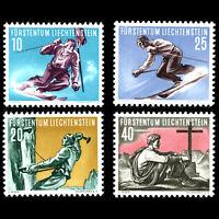 Liechtenstein 1955 - Winter Sports - Sc 289/92MNH