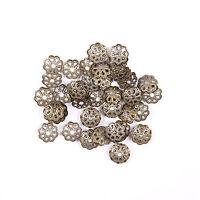 500Pcs Filigree Flower Cone End Bead Cap Gold,Silver,Bronze,Copper,Black 6mm