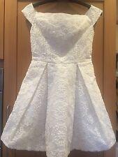 TOPSHOP CREAM OFF SHOULDER WEDDING PROM DRESS SIZE UK14/EU42/US10 RRP £70