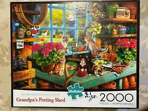 "Buffalo Games 2000 piece Jig Saw Puzzle  ""Grandpa's Potting Shed'"