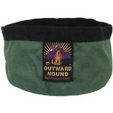 JUNIOR PORT-A-BOWL by Outward Hound - HOLDS 24 OZ OF FOOD OR WATER - BLACK