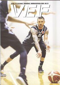 Magazine Basketball VEF Riga Latvia 2016/17 January
