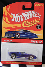 Ford GT-40 (Blue) Hot Wheels Classics Series 2 9/30 Free Ship in Details