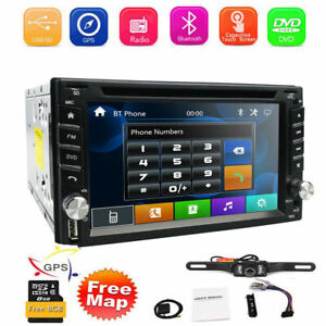 """Car Stereo GPS Navi Bluetooth Radio Double 2 Din 6.2"""" CD DVD Player with Camera"""