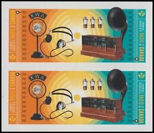 Canada History of Radio 'P' block (4 stamps) Mnh 2020
